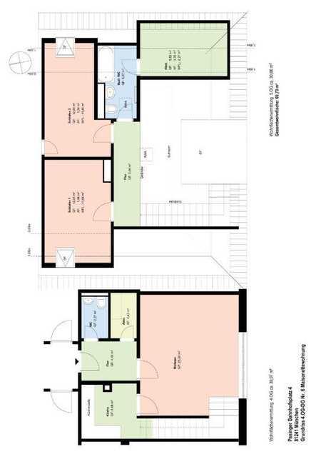 *Pasing* 3 Zimmer Maisonett-Whg*möbliert* neue EBK*Speicherabteil*Bad mit Wanne*Gäste WC* in Pasing (München)