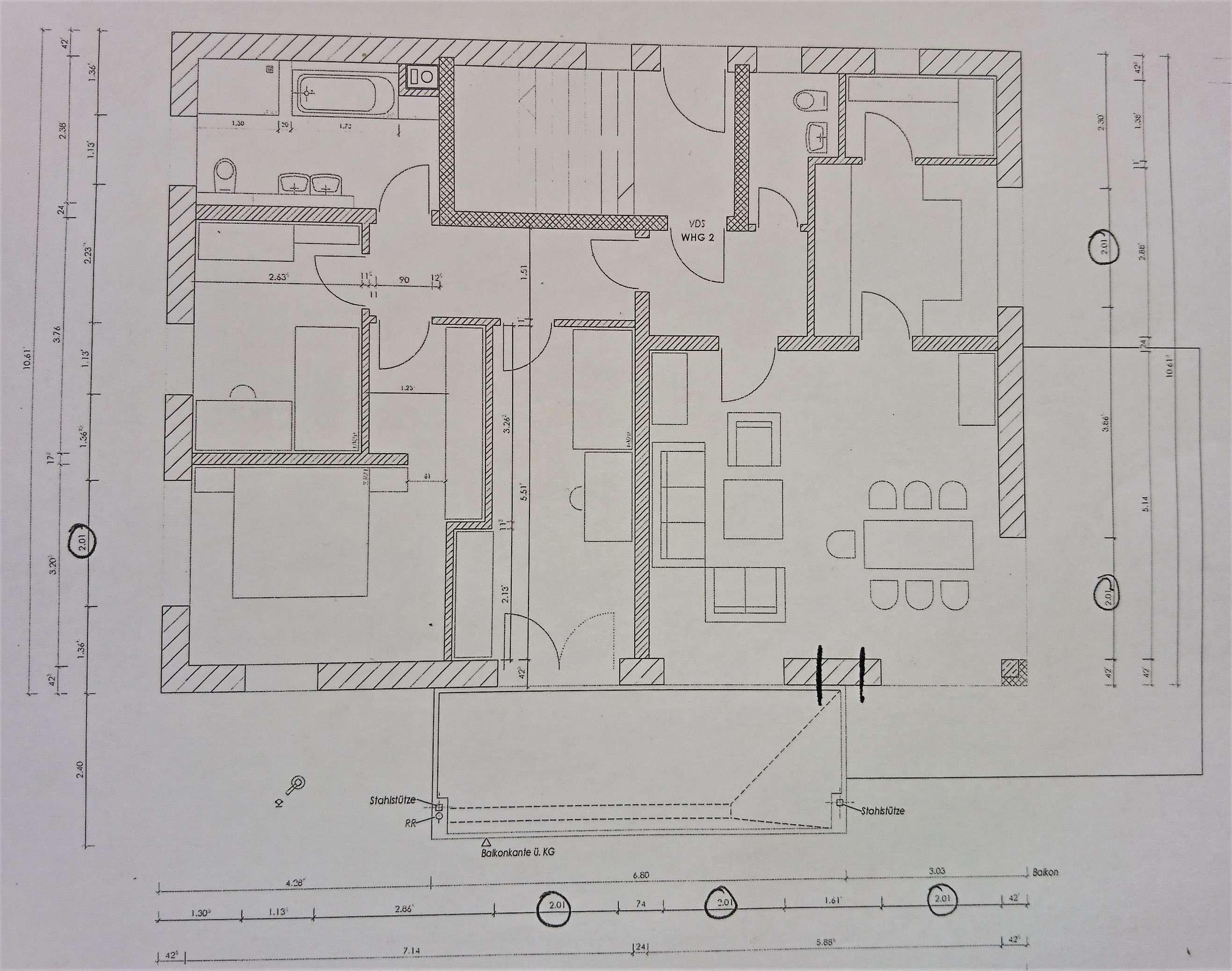 Erstbezug mit Balkon und Terasse: stilvolle 4-Zimmer-Wohnung in Sulzberg in