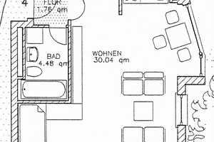 1 Zimmer Wohnung in Cham (Kreis)