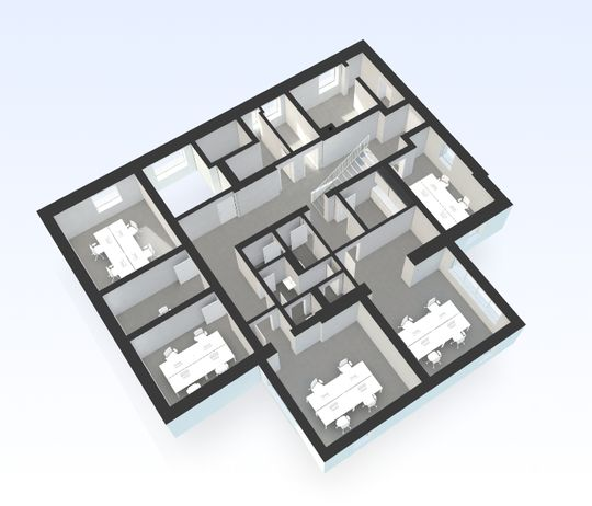 Grundriss Souterrain 3D