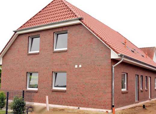 Neubau 4 Zi-DHH, 108m² Wfl, Klinker, Tonziegel, Solar, Rollläden, Garage, Pflaster, Hausanschlüsse