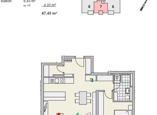 Erstbezug mit EBK und Balkon: freundliche 2-Zimmer-Wohnung in Ulm