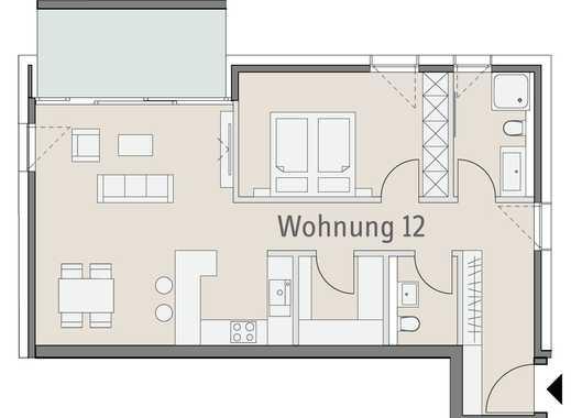 Attraktive Neubauwohnung - Moderne 2,5-Zimmer-Wohnung mit Balkon