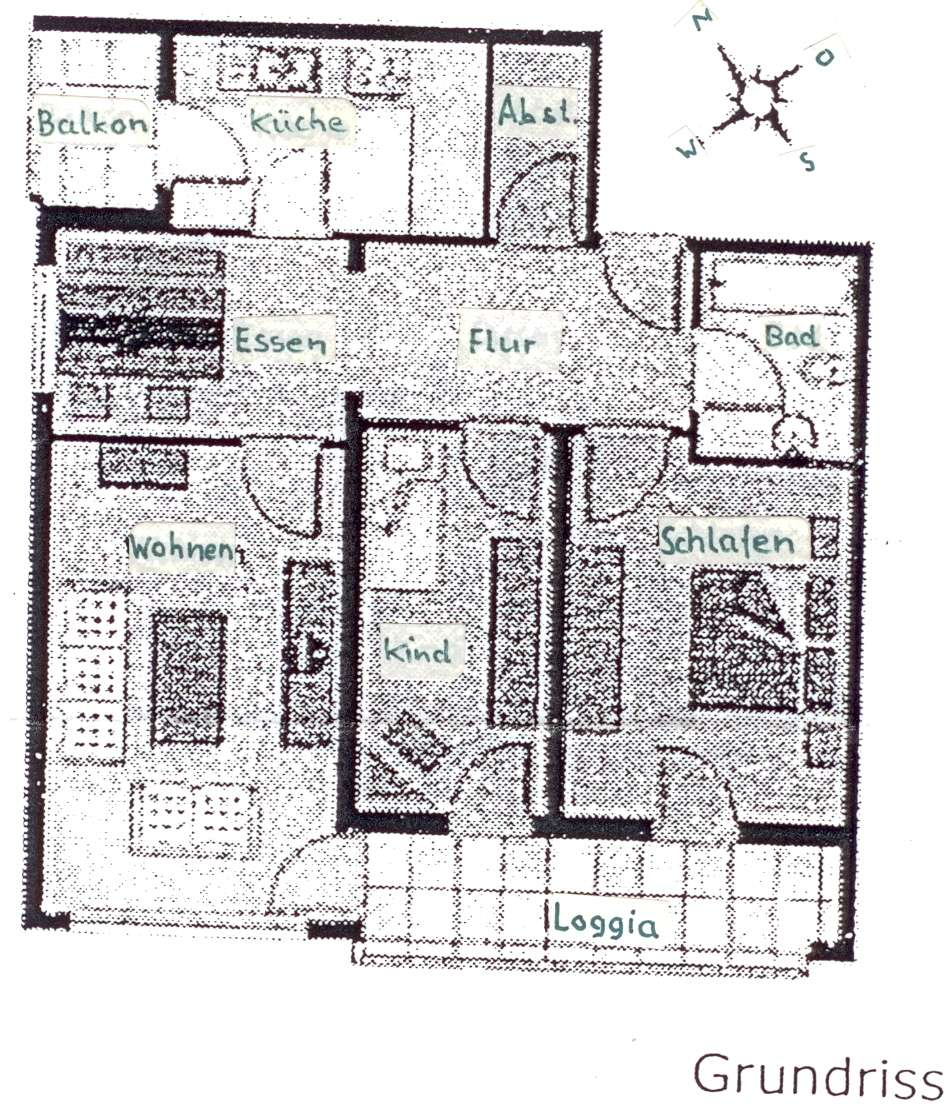 Gepflegte 3-Zimmer-Wohnung mit 2 Balkone und EBK in Solln, München in Solln (München)