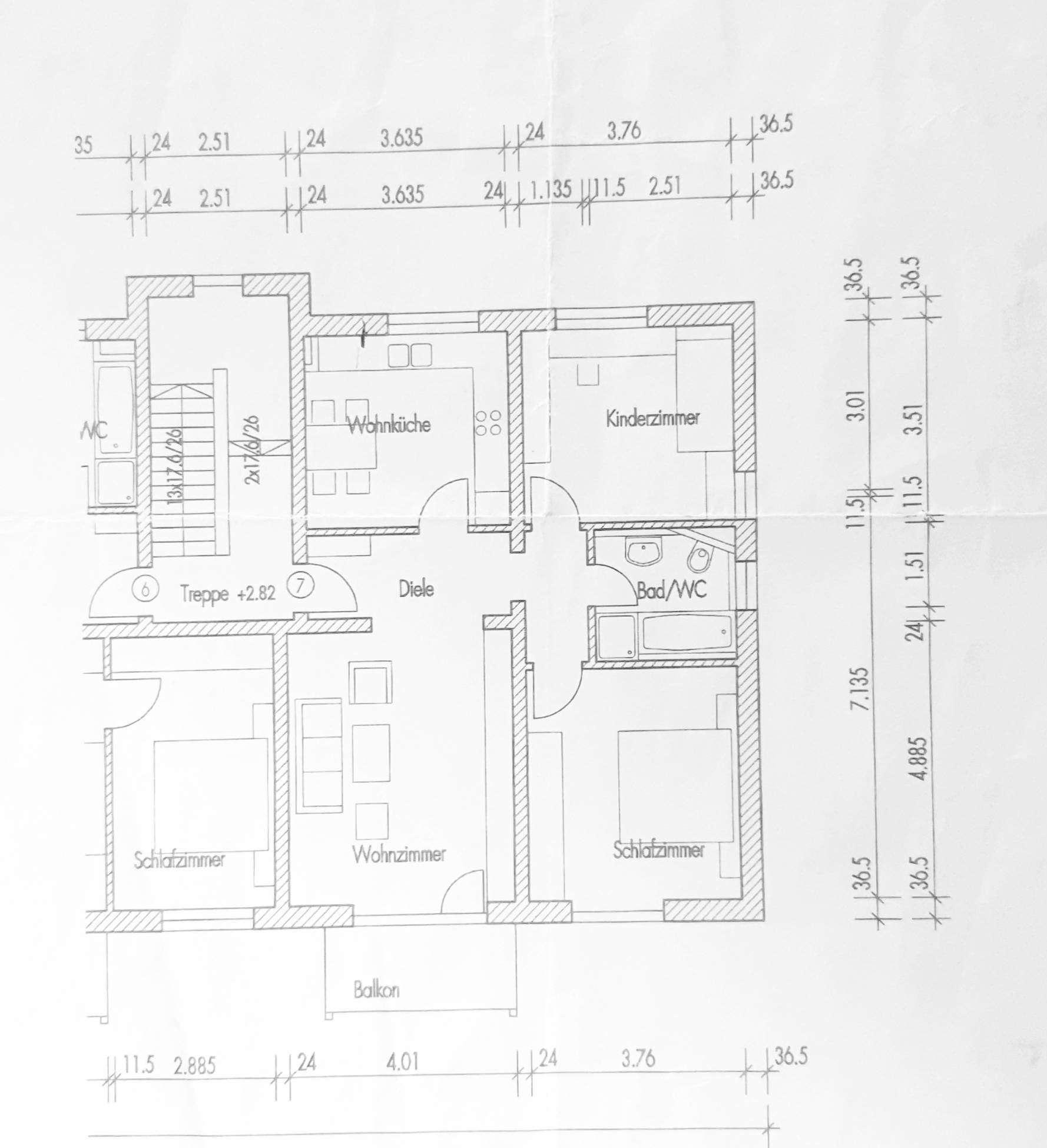 3-Zimmer Wohnung im Süden von Eching in