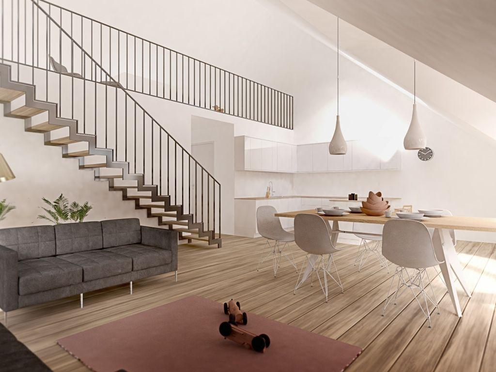 Lichtdurchflutete 3-Zimmer Maisonettewohnung mit Balkon