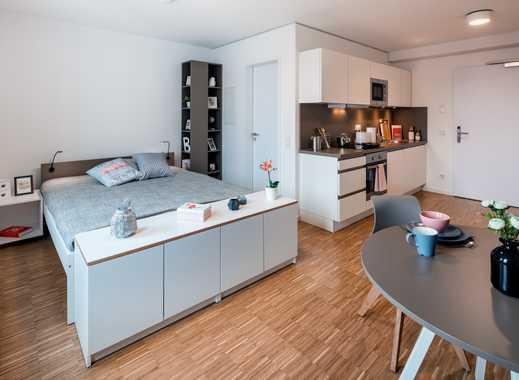 ERSTBEZUG: Komplett möbliertes, modernes Apartment im Herzen Frankfurts (29 m²)
