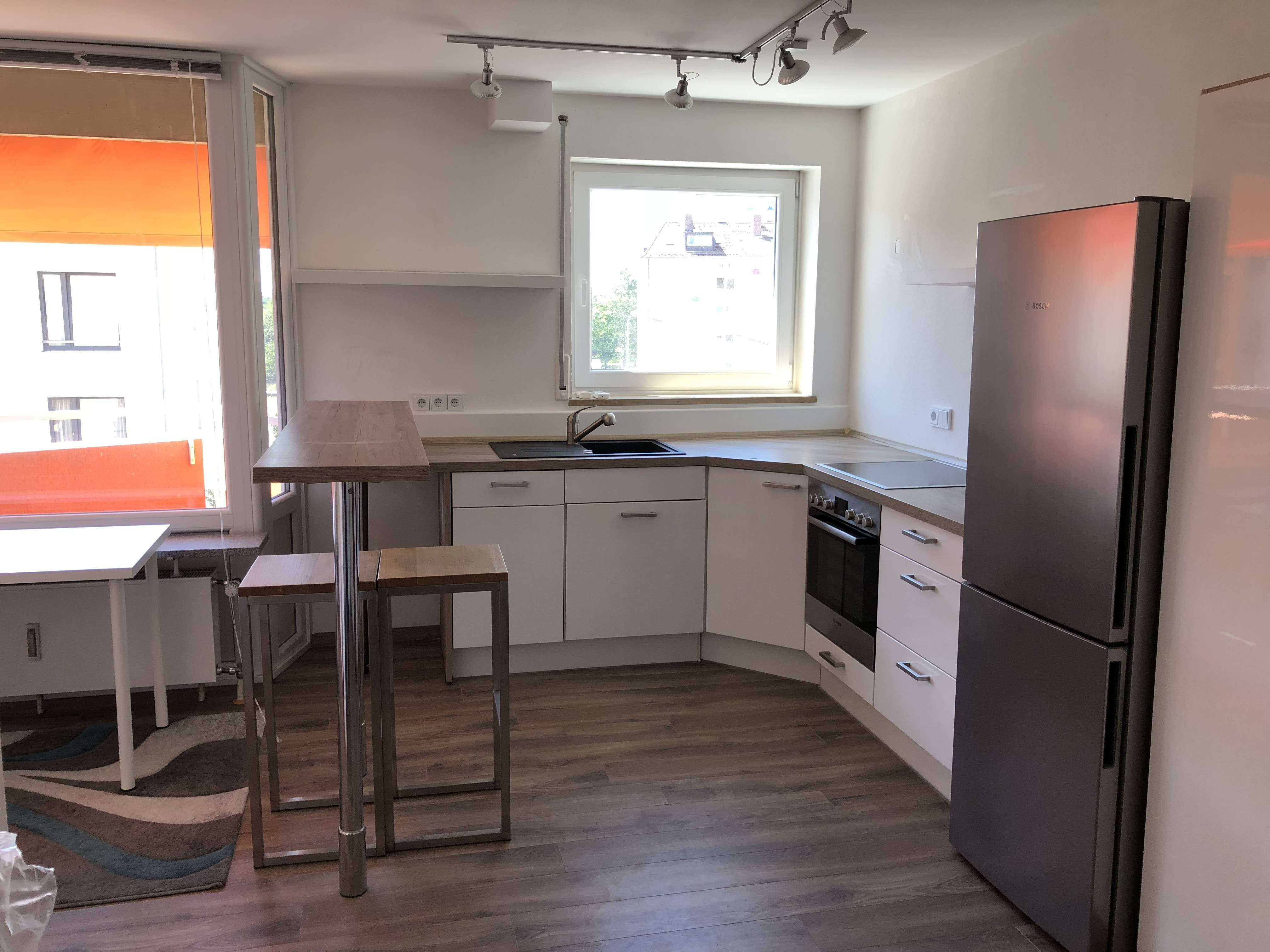Exklusive, sanierte 1-Zimmer-Wohnung mit Balkon und Einbauküche in Nürnberg in Eberhardshof (Nürnberg)