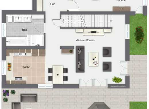 Moderne 4-Zimmer-Maisonette-Wohnung mit Dachterrasse Nähe Klinikum