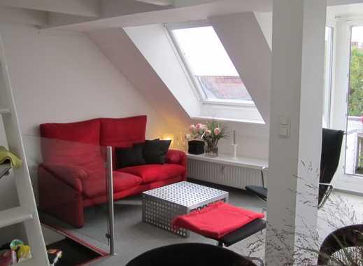 Stilvolle und möblierte Maisonette mit Balkon und Einbauküche