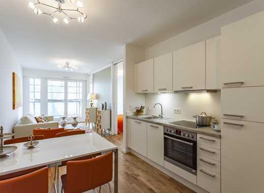 Erstbezug modernes Apartment mit Duschbad, Parkett, Bodenheizung, EBK & Außenjalousien