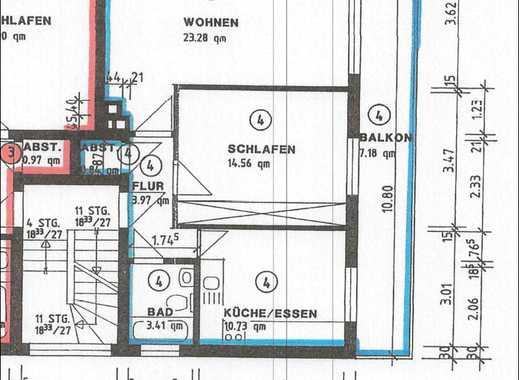 Kernsaniert & Blick ins Grüne:  zauberhafte 2-Zimmer-Wohnung, Wohnküche, Balkon, Badewanne, ruhig