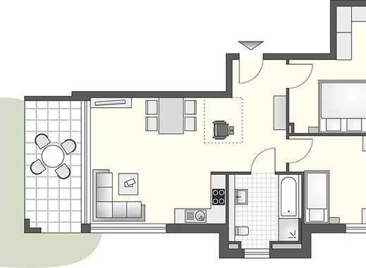 Hübsche 3-Zimmer-Wohnung mit Einbauküche und Privatgarten - nur 250 m Luftlinie vom See entfernt!