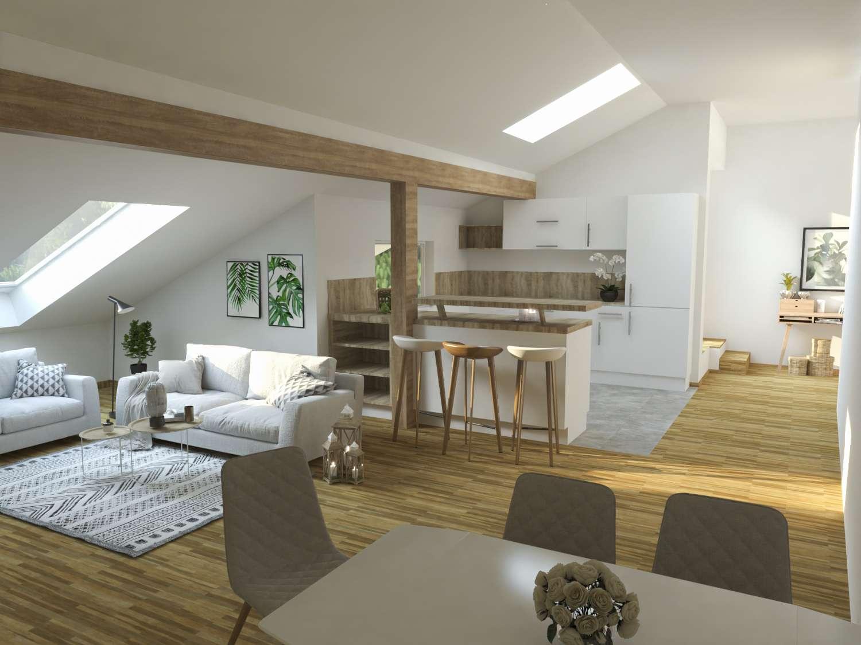 Helle, wunderschöne 2-Zimmer-Dachgeschosswohnung mit Dachterrasse und tollem Ausblick! in Biberbach