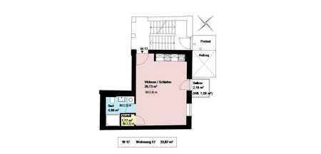 * Zimmer-Wohnung mit Balkon im trendigen Schlachthofviertel*EBK*Keller* in Ludwigsvorstadt-Isarvorstadt (München)