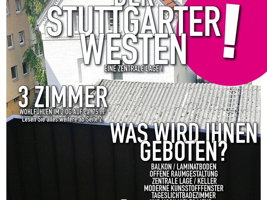 schönes Wohnen im Stuttgarter Westen in drei Zimmern