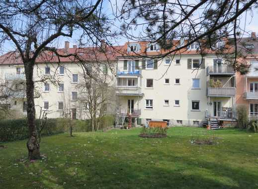Schöne 3-Zimmer-Wohnung mit Balkon und großem Garten in ruhiger Lage