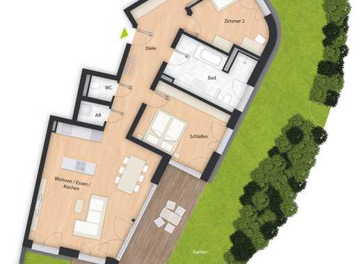 Sie suchen eine Erdgeschosswohnung mit Gartenanteil? Wir haben sie.