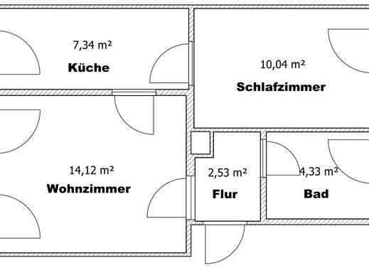 Ansprechende, gepflegte 2-Zimmer-EG-Wohnung zur Miete in Groitzsch