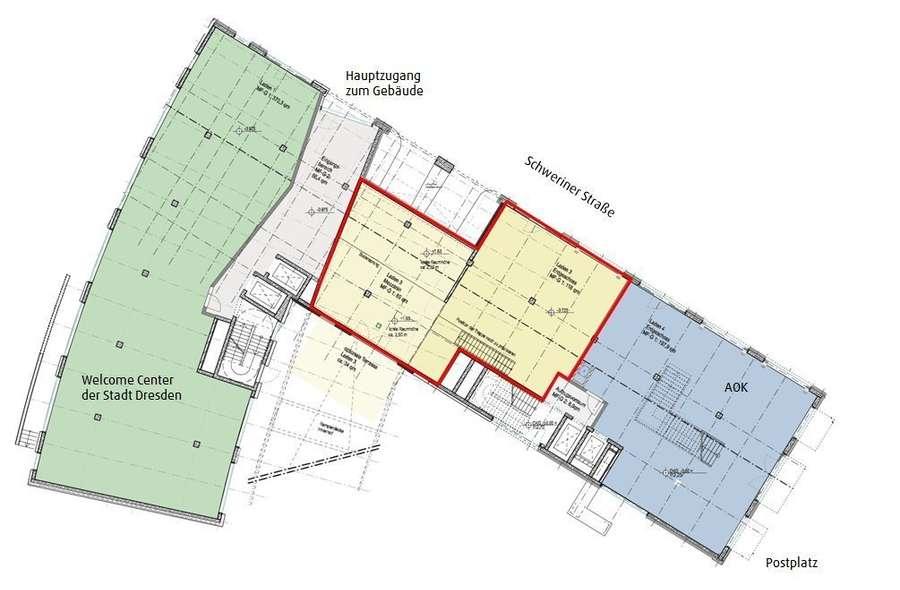 Lage innerhalb des Gebäudes