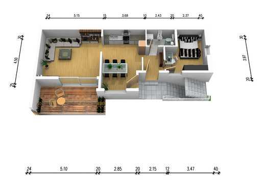 Erstbezug · Modernisierte Erdgeschosswohnung mit viel Tageslicht · Naturnah