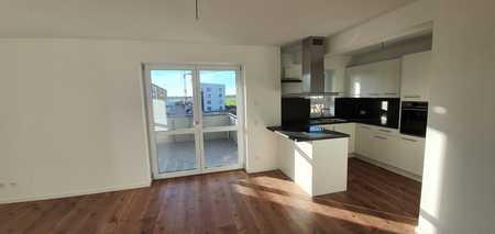 ...Erstbezug - 3-Zimmer-Wohnung mit hochwertiger EBK und 12m² überdachtem Balkon... in Mühldorf am Inn