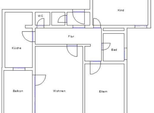 Bitte nur Mailanfragen: Bezaubernde, großzügige Wohnung in der Wöhrdstraße mit Südbalkon