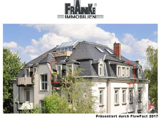 Striesen - helle 2-Zi.-Wohnung im Mansardgeschoss mit Balkon