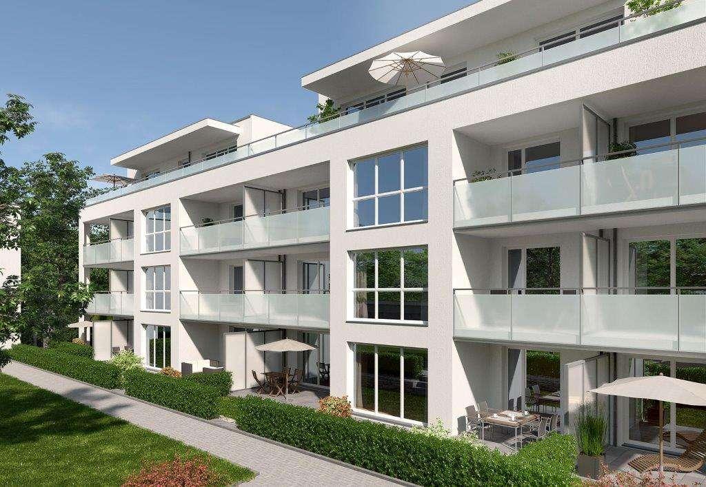Erstbezug: exklusive 2-Zimmer-Wohnung mit Balkon in Moosburg an der Isar mit wunderschönem Ausblick