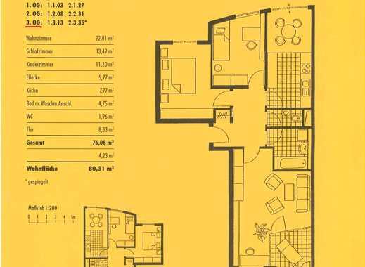 Sehr schöne 3-Zimmer Wohnung in attraktiver Lage -  Stuttgart, Mitte