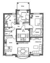 Schön geschnittene 3-Zimmer-Wohnung mit EBK