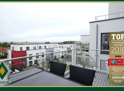 Neuwertige, schicke 2-Zimmer-Wohnung mit großem Balkon und Aussicht auf Bonn und das Siebengebirge
