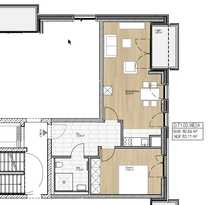 Bild Neubau: 2-Zimmer-Wohnung mit Loggia