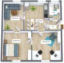 Komplett renovierte 3 5-Zimmer-Wohnung ruhige