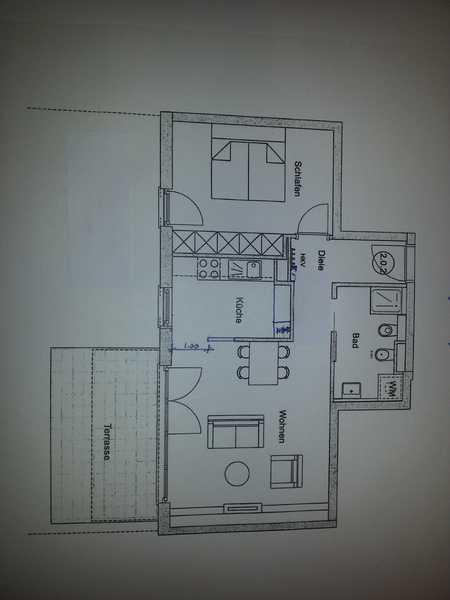 Exklusive 2-Zimmer-Wohnung (voll möbliert) in Germering mit ca. 90qm Garten in Germering (Fürstenfeldbruck)