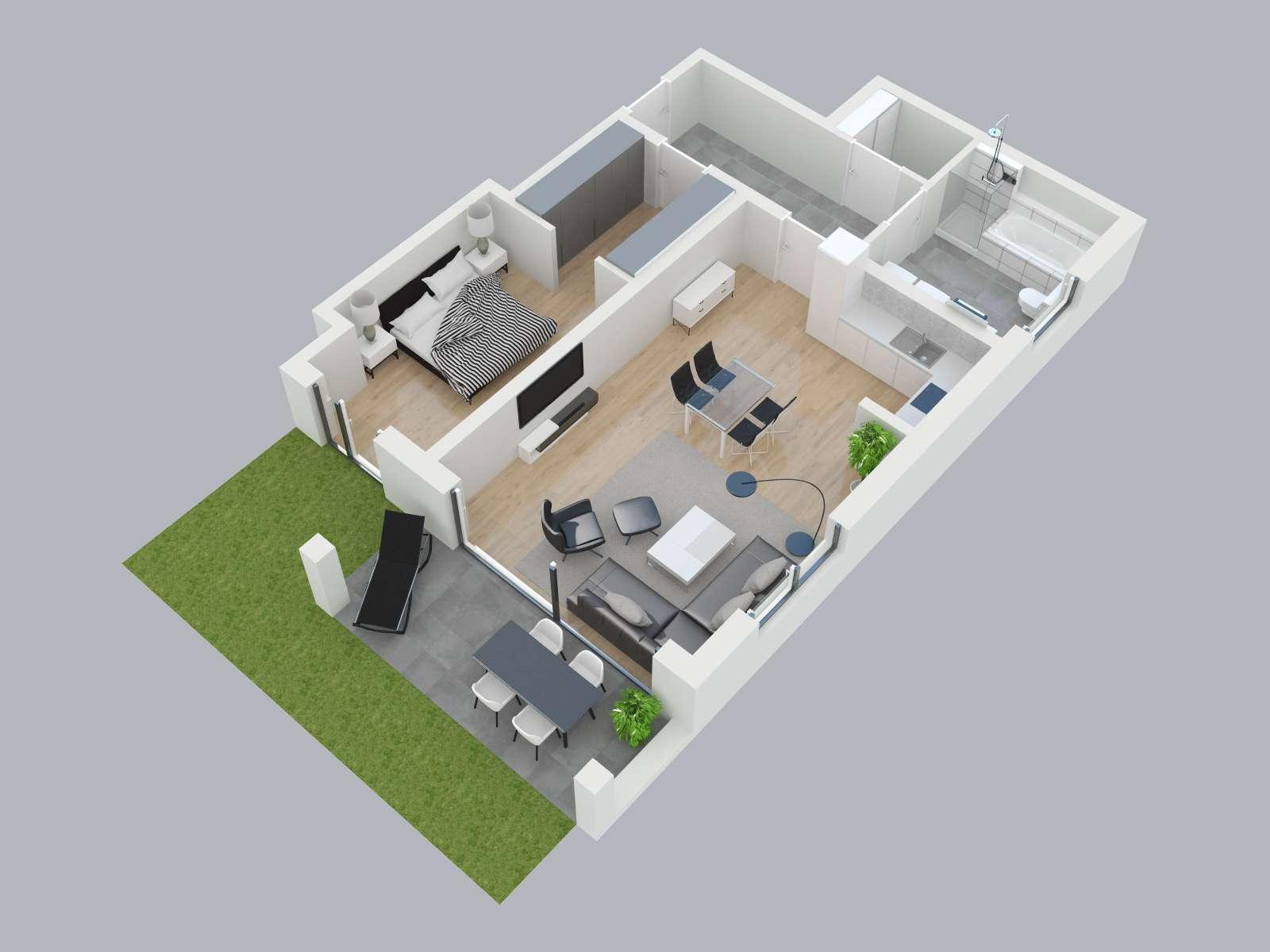Schönes Wohnen - Neubau-3-Zimmerwohnung an den Obernauer Mainhöhen