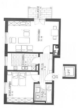 Gepflegte 2-Zimmer-Wohnung mit Balkon in Mering in Mering