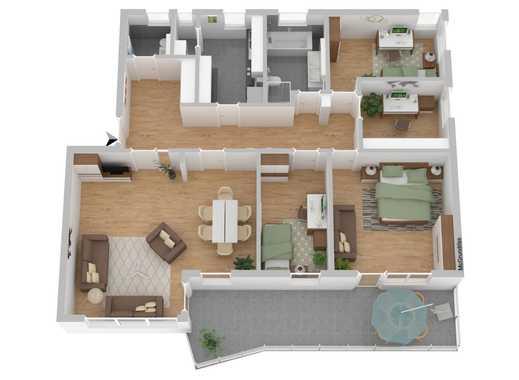 Erstbezug: Sanierte 5-Zimmer Wohnung mit Balkon in Top-Lage in Neubauzustand WE06