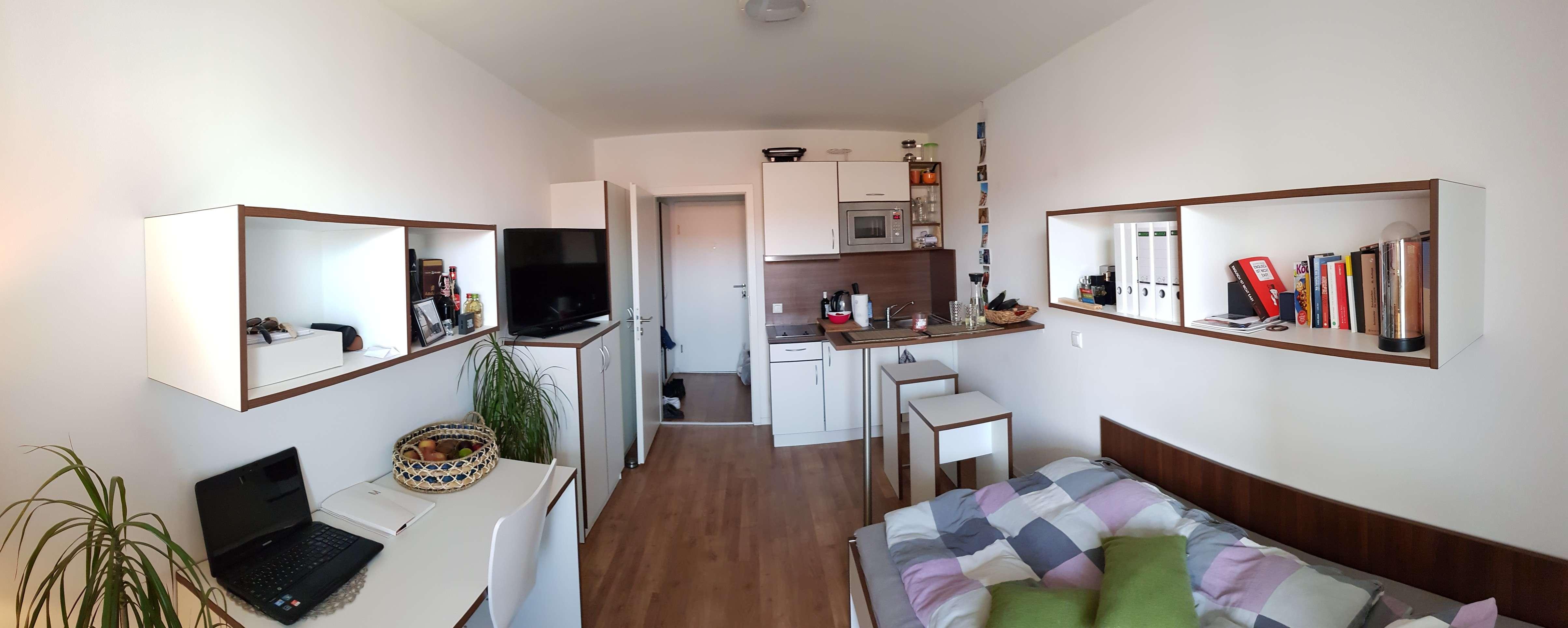 Exklusive, neuwertige 1-Zimmer-Wohnung mit Balkon und EBK in Milbertshofen, München in Milbertshofen (München)