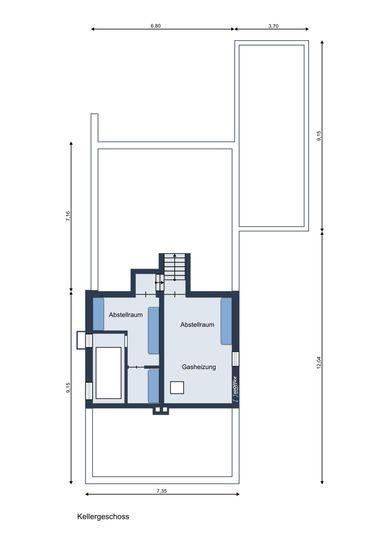 Freistehendes Ein-Zweifamilienhaus mit schönem Garten und Garage in ...