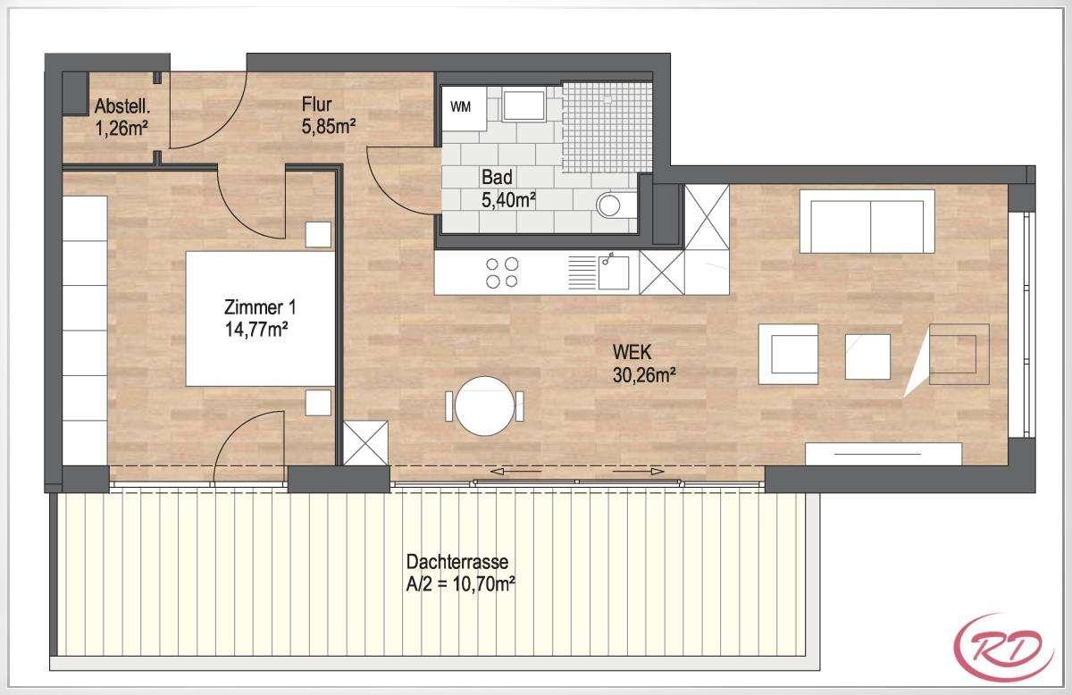 Moderne Wohnung mit Ausblick und Dachterrasse ++Robert Decker Immobilien++ in Waldkraiburg