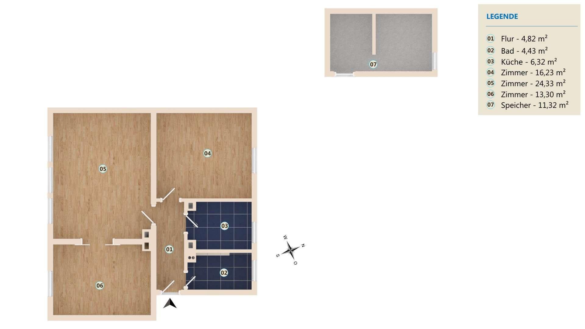 Erstbezug nach Sanierung: exklusive ruhige 3-Zimmer-Wohnung in Augsburg Nähe Hauptbahnhof in