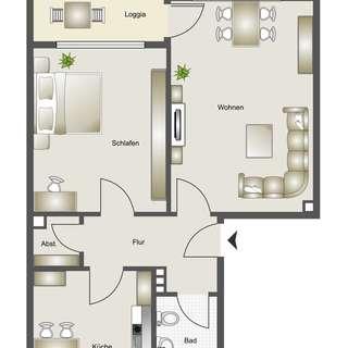 Zusatzbild: Helle 2,5 Zimmerwohnung mit Balkon, in netter Hausgemeinschaft! - Mietwohnung Bauverein zu Lünen