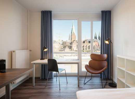 Wunderschönes Apartment am Weserufer mit Panoramablick auf die historische Altstadt, direkt im Ze...