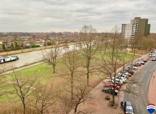 Solide 2 Zimmer Wohnung am Mittellandkanal TG-Stellplatz | Balkon | Einbauküche | Fahrstuhl