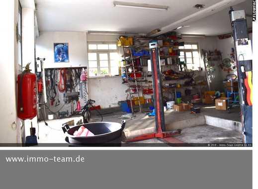 Werkstatt - Doppelgarage mit Hebebühne + 2 Stellplätze