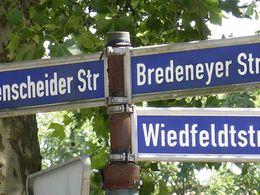 Bredeney Strassenschild