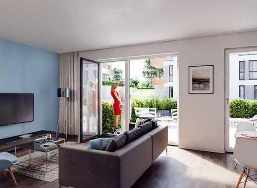 PANDION VILLE - Traumhafte Erdgeschosswohnung mit über 100 m² großem Garten in Südlage - Erstbezug
