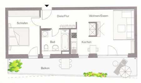 Sonnige 2-Zimmer Wohnung von Privat in Unterschleißheim
