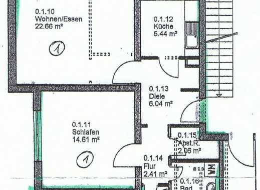 Vollständig renovierte 2-Zimmer-Hochparterre-Wohnung mit Balkon und EBK in Darmstadt